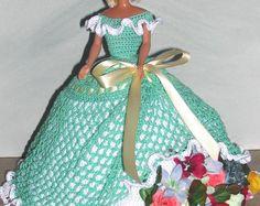 Crochet poupée Barbie Pattern - #681 Couturier ORIGINAL #9