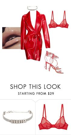 """""""Untitled #1747"""" by elinaxblack ❤ liked on Polyvore featuring Christian Dior, L'Agent By Agent Provocateur and Alexandre Vauthier"""