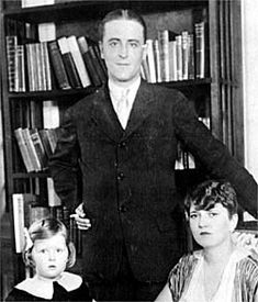 "F. Scott Fitzgerald with wife Zelda and daughter Scotty. One of my favorite authors. Read his short story ""Babylon Revisited."""