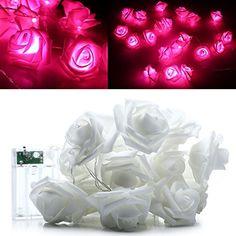 Your Supermart 2M 20LED Rose Flower Fairy String Light Wedding Party Christmas Pink -- For more information, visit image link.