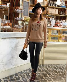 This #MaisonJules snail sweater is uber cute, especially with the little beret.