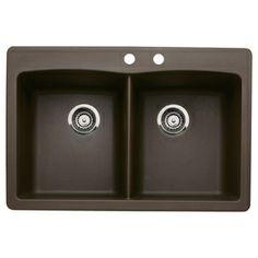BLANCO�Diamond Double-Basin Drop-in or Undermount Composite Kitchen Sink