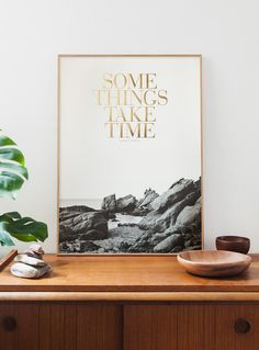 Some things take time. OLD GOLD edition. B/W by Congostudio, €50.00