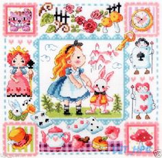 """Alice in Wonderland"" Counted Cross Stitch Chart Pattern Leaflet   eBay"