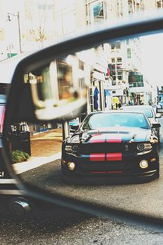 Objects In The Mirror May Appear Mean And Tough, The GT500 'Stang
