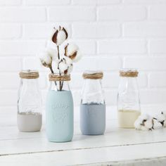 Chalky Finish Milk Jars