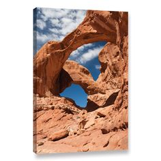 "Loon Peak Double Arch Vertical Photographic Print on Wrapped Canvas Size: 24"" H x 16"" W x 2"" D"