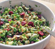 סלט ירוקים ועדשיםgreen Salad and lentils