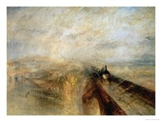 Always loved this painting by William Turner:  Rain, Steam and Speed
