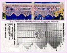 MIRIA CROCHÊS E PINTURAS: BARRADOS DE CROCHÊ COM ROSAS