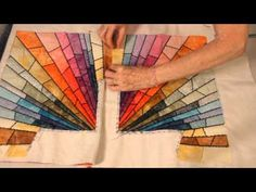 Rays Of Hope Quilts Stain Glass Pt. 4 (Quilting and Joining Sections) - YouTube