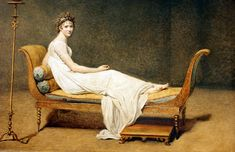 Portrait of Madame Recamier Jacques-Louis David 1800 Oil on canvas Dimensions 174 cm × 224 cm in × in) Location Louvre, Paris Der Tod Des Marat, Jacque Louis David, David Painting, Louvre Museum, Museum Paris, Oil On Canvas, Canvas Art, Louvre Paris, Napoleon