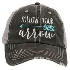 Katydid Follow Your Arrow Embroidered Trucker Hat