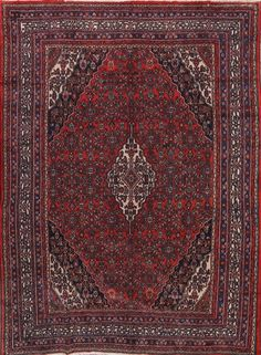 Great Deal Antique Geometric 8x11 Hamedan Persian Oriental Area Rug 11' 4 x 8' 6 #Persian #TraditionalPersianOriental