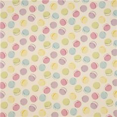 off-white Canvas macaron fabric by Kokka #macaroon