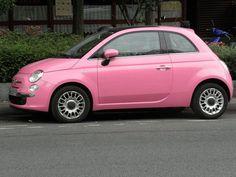 Hot Pink! Fiat 500!!