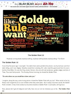 The Golden Rule 2.0