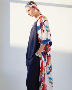 e00ee7b8c8b0b8 Style tip: spice up your lounge look with a vibrant printed robe. #Natori
