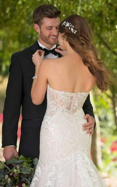 Shimmering Fit and Flare Wedding Dress with Sequin by Essense of Australia Wedding Dress Backs, Fit And Flare Wedding Dress, Gorgeous Wedding Dress, Colored Wedding Dresses, Gown Wedding, Essence Of Australia Wedding Dress, Wedding Couple Poses, Essense Of Australia, Wedding Dress Boutiques