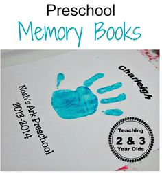 Preschool Memory Book - Teaching 2 and 3 Year Olds