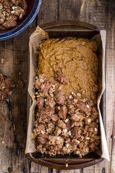 Molten Chocolate Pumpkin Streusel Bread...heavy on the Chocolate + Streusel   halfbakedharvest.com