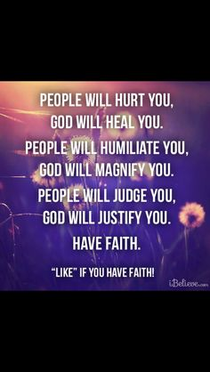 People will hurt you, god will heal you❤️