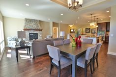 Gallery - Creative Homes. Amazing dinning room in one of our homes in the neighborhood Liberty West, located in Stillwater Minnesota.