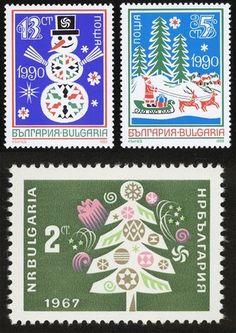 クリスマスの雰囲気たっぷりの切手も冬ならでは。