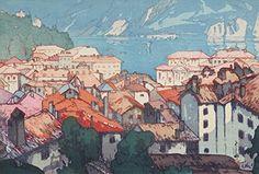 "Japanese Art Print ""Lugano (Rugano-Machi)"" from the European Series by Yoshida Hiroshi. Shin Hanga and Art Reproductions http://www.amazon.com/dp/B010UZ2YOO/ref=cm_sw_r_pi_dp_ZSNswb1ZCASVK"