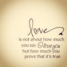 How do I know you really love me?
