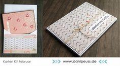 Geschenkverpackung / Umschlag für Karten mit dem Februar Kartenkit AddOn von @venure für www.danipeuss.de   #dpFebruarkit15 #dpKartenkit