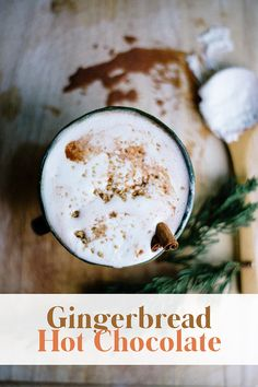 Gingerbread Hot Chocolate - Casey Wiegand of The Wiegands Winter Drinks, Holiday Drinks, Holiday Recipes, Winter Holidays, Christmas Holidays, Hygge Christmas, Elegant Christmas, Veggie Recipes Healthy, Healthy Meals