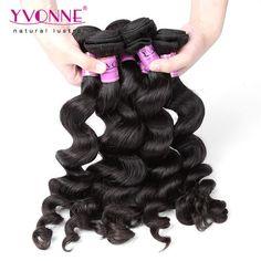 #Grade 5A 100% Peruvian Loose Wave Virgin Hair Weave 1B Color