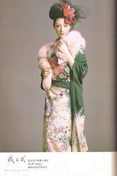 Kimono-hime issue 6. Fashion shoot page 59 by Satomi Grim, via Flickr / Chiaki Kuriyama(栗山 千明)KIMONO姫 祥伝社ムック - November 2005