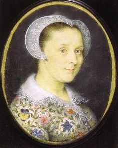 Said to be Elizabeth Harding, wife of the painter Issac Oliver: she died in 1641. Sometimes said to be Bess of Hardwick, but I very much doubt it.