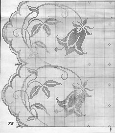 Irish lace, crochet, crochet patterns, clothing and decorations for the house, crocheted. Filet Crochet Charts, Crochet Motifs, Crochet Borders, Crochet Cross, Crochet Home, Thread Crochet, Knit Or Crochet, Crochet Doilies, Crochet Stitches