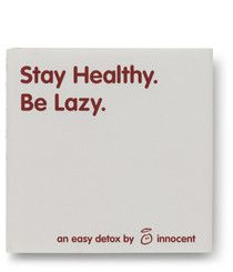 Be healthy by staying lazy. Easy steps to follow