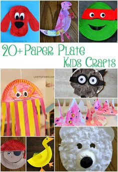 20+ Paper Plate Kids Crafts