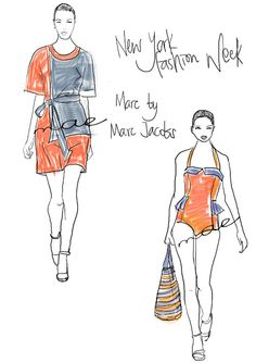 fashion sketches NYFW / Marc by Marc Jacobs