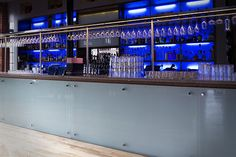 The Terrace Bar in Leicester, illuminated with Ledridge Lighting LED ribbon. Led Lighting Solutions, Leicester, Light Up, Bespoke, Terrace, Ribbon, Bar, Taylormade, Balcony