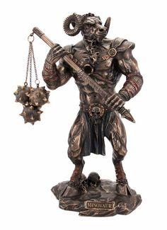 Greek Mythology Minotaur Bronzed Finish Statue | eBay