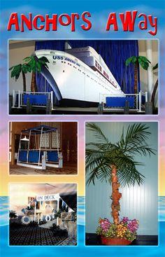 cruise ship themed centerpieces | on a Romantic Cruise Adventure. A Cruise Ship theme is a great theme ...