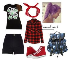 """ootd 5sos concert"" by amsmith0107 ❤ liked on Polyvore featuring River Island, Converse and Boohoo"