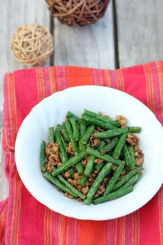 Stir-fried Green Beans with Minced Pork in XO Sauce - Ang Sarap @angsarap