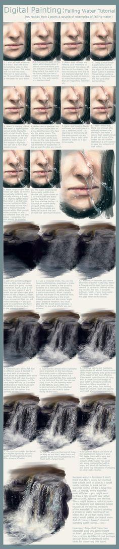 Falling Water Tutorial by Foxbane.deviantart.com on @deviantART