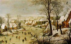 Brueghel - Paesaggio invernale con trappola