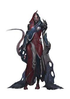 Female Iz'kal Character. Art by Milan Nikolic. Find the game at: http://burning-games.com
