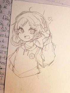 Anime Drawings Sketches, Cool Art Drawings, Anime Sketch, Kawaii Drawings, Cartoon Drawings, Chibi Sketch, Art Inspiration Drawing, Drawing Ideas, Arte Sketchbook