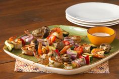 Party Shrimp and Vegetable Kabobs recipe