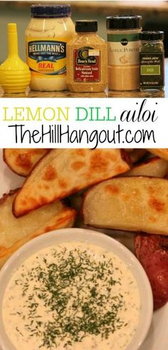 Lemon Dill Aioli from TheHillHangout.com - This recipe is a terrific sauce for potatoes, beef, chicken, or most any dinner idea!